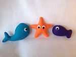 Whale, Starfish, Fish